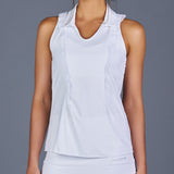 The Whites Sleeveless Collar Top