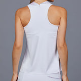 Stella Sleeve-less Collar Top (white)