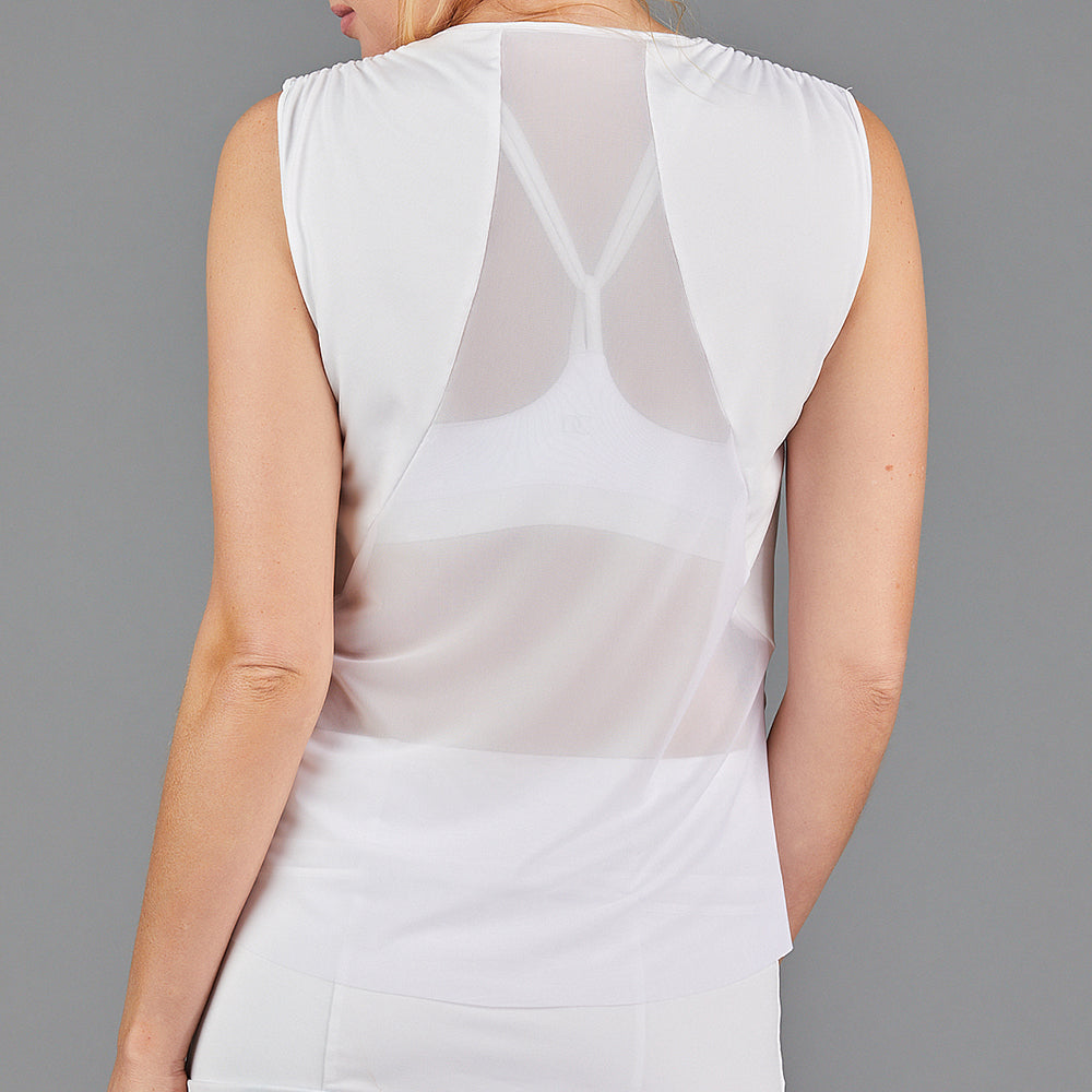 Juliette Sleeveless Top (white)