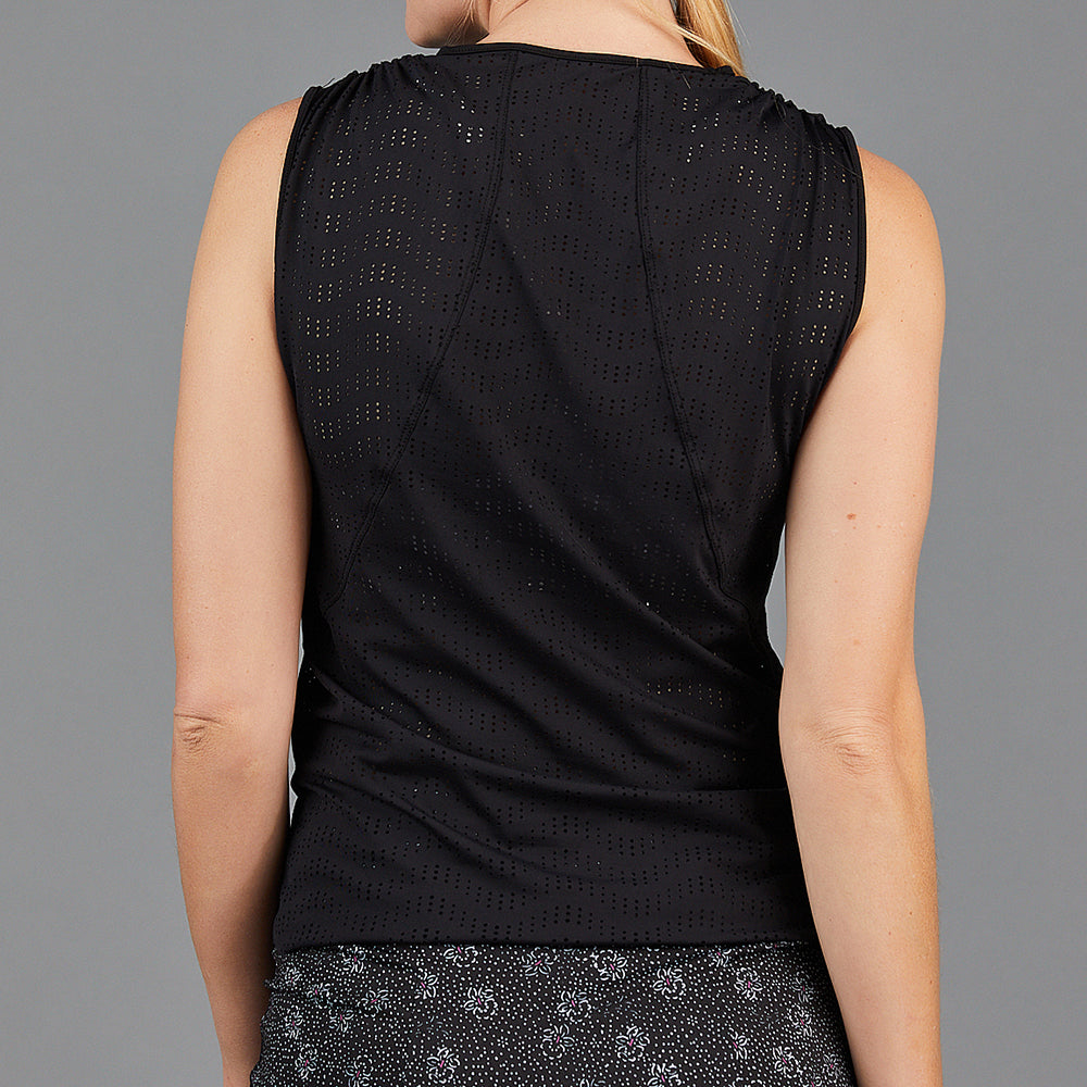 Jade Knotted Sleeveless Top (black)