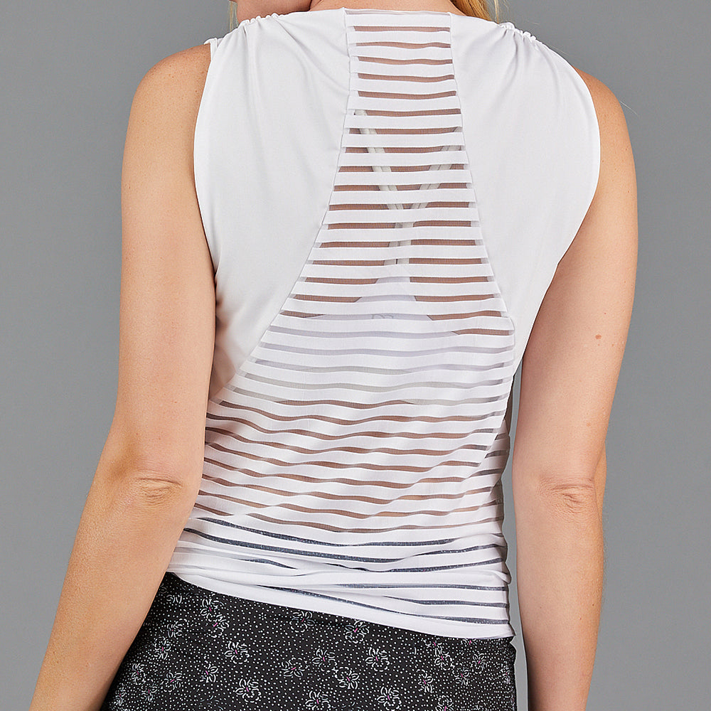 Jade Knotted Sleeveless Top (white)