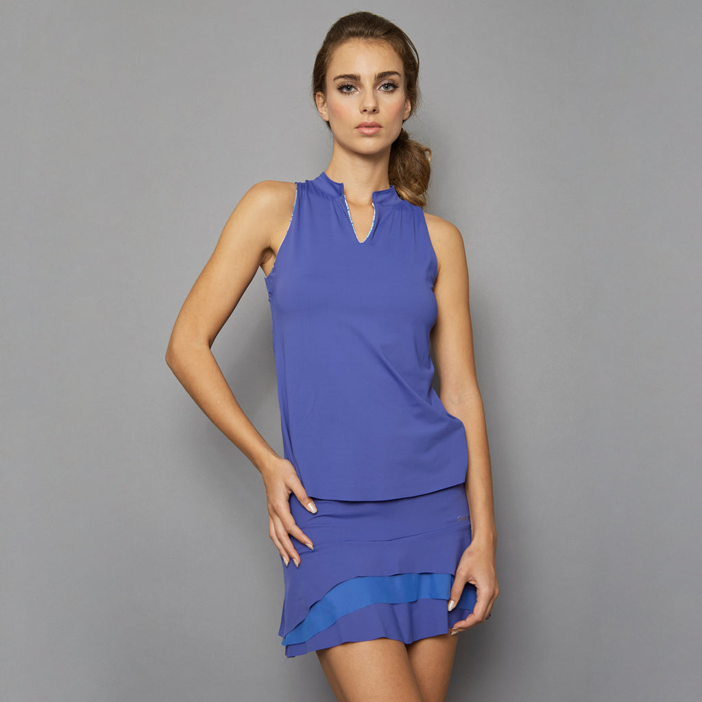 Scotia Sleeveless Collar Top (blue)