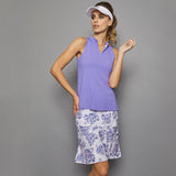 Serenity Sleeveless Collar Top (lilac)