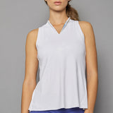 Scotia Sleeveless Collar Top (white)