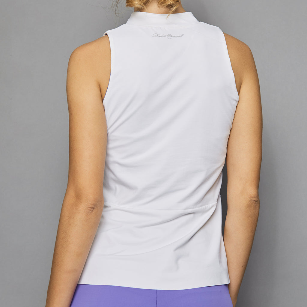 Serenity Sleeveless Collar Top (white)
