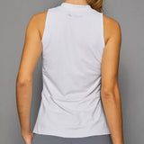 Rhapsody Sleeveless Collar Top (white)