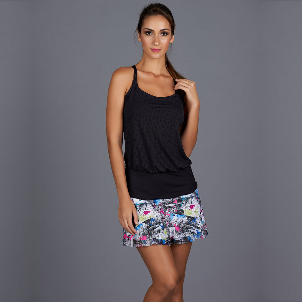 City Etch Hourglass Top (black)