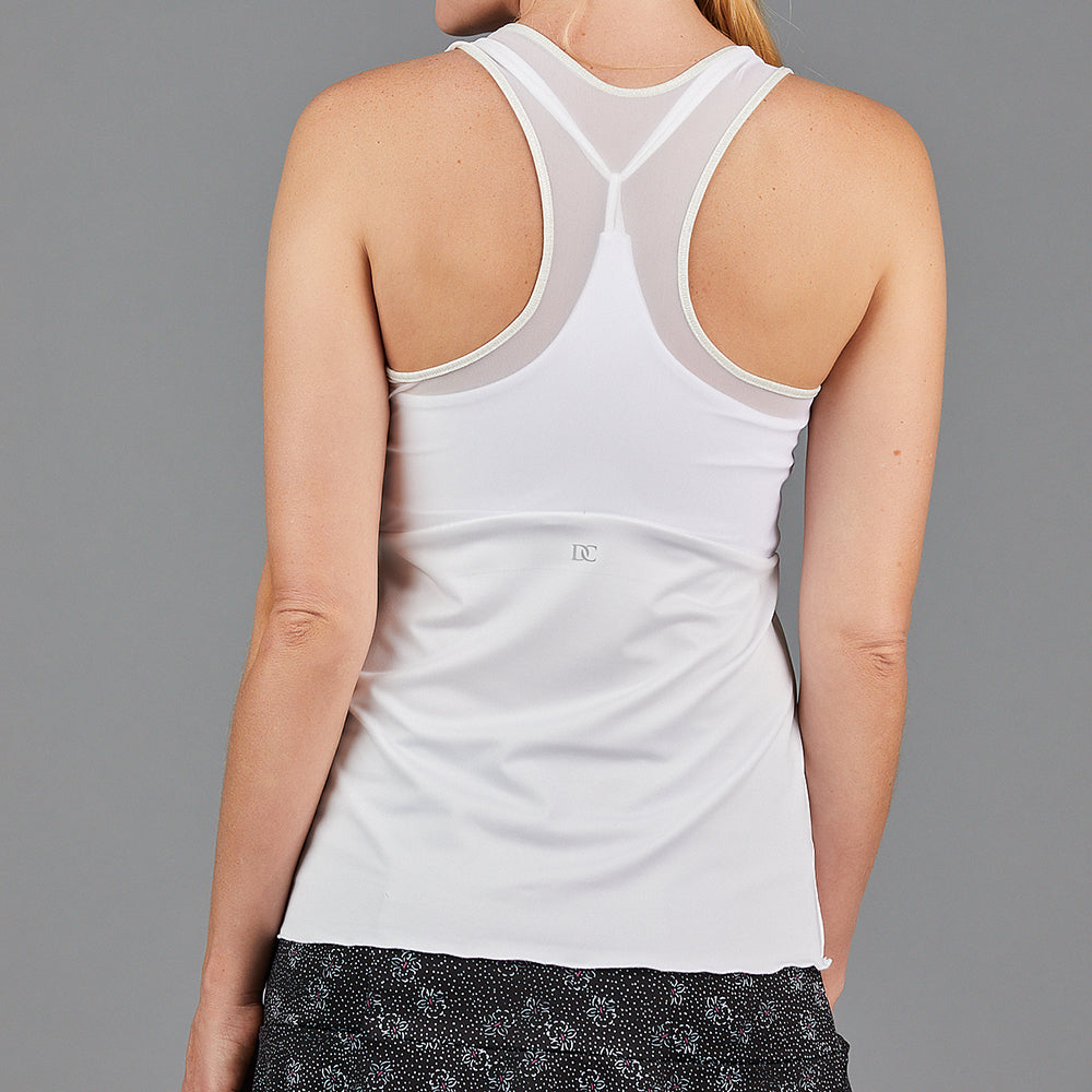 Jade Layered Strap Top (white)