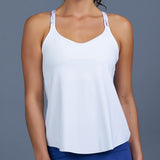 Sisily Spaghetti-Strap Top (white)