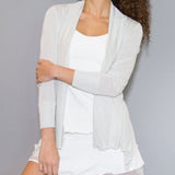 Silver/White Shimmer Cardigan