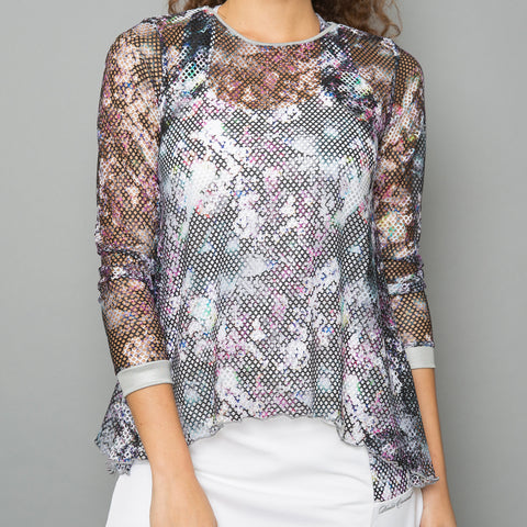 All Season Sheer Pullover Top (white)
