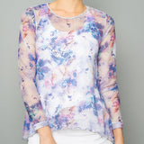 Mystical Sheer Pullover Top (print)