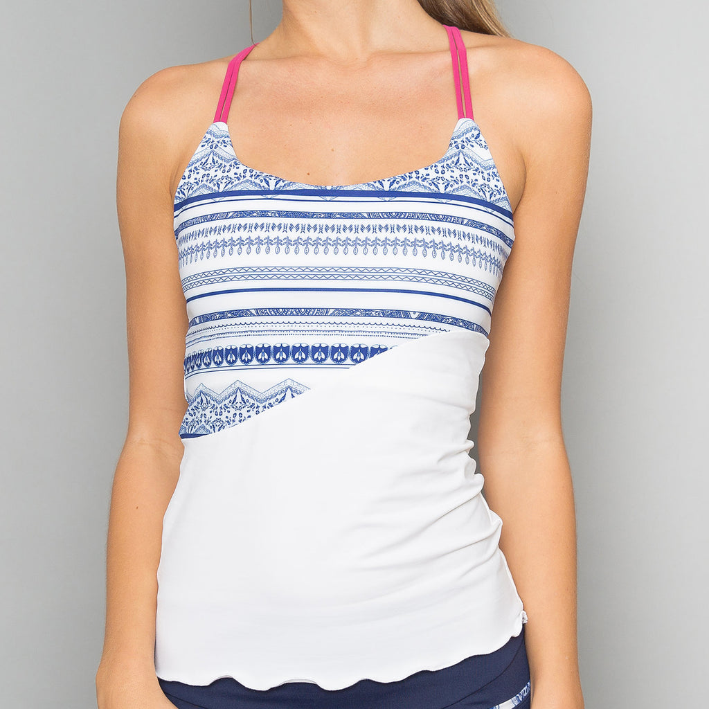 Nordica Spaghetti-Strap Top (white)