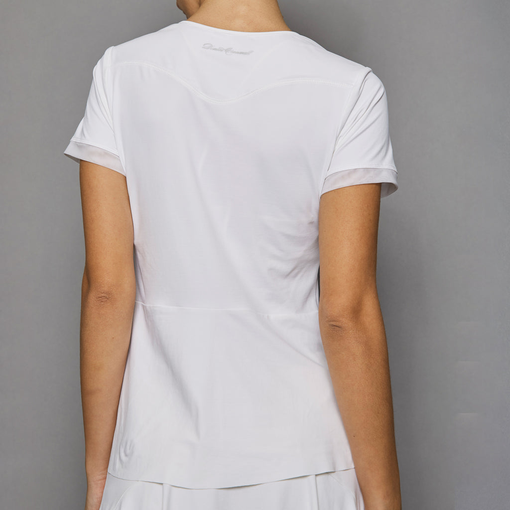 Pure White Short-Sleeve Top