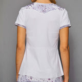 Rhapsody Short-Sleeve Top (print/white)