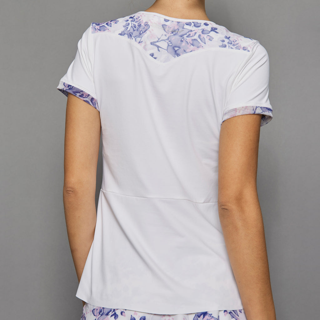 Serenity Short-Sleeve Top (print/white)