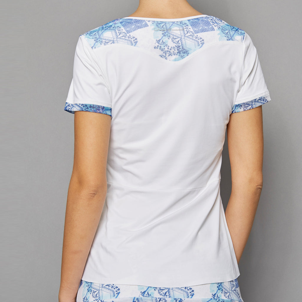 Scotia Short-Sleeve Top (print/white)