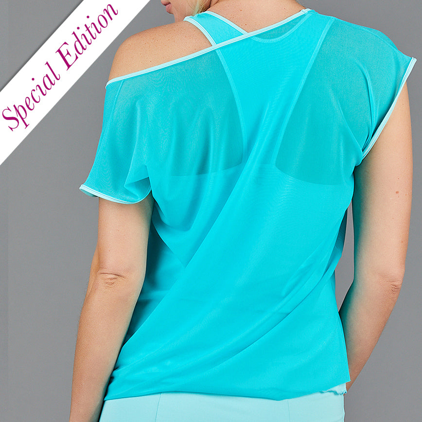 Juliette Mesh Layer Tee (turquoise)