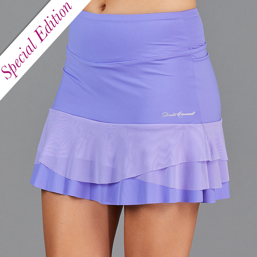 "Juliette Three Tier 15"" Skort (lavender)"