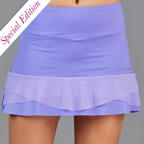 "Jade Two Tier 13"" Skort (white/print)"
