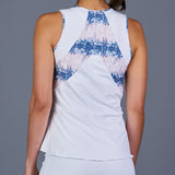 NY Square Tank Top (White)