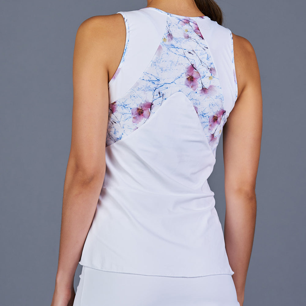 Spring Marble Tank Top (White)