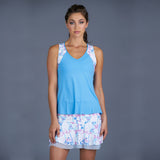 Sisily Tank Top w/print (baby blue)