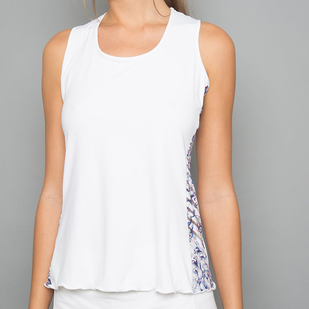 Mosaic Tank Top (white)