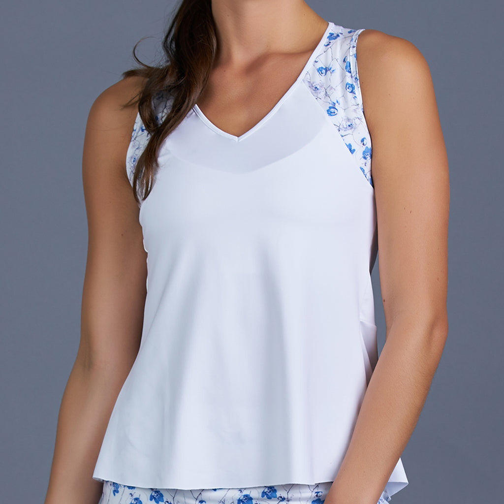 Blues Tank Top w/print (white)