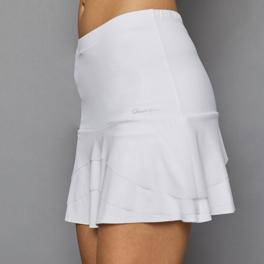 Pure White Tier Skort