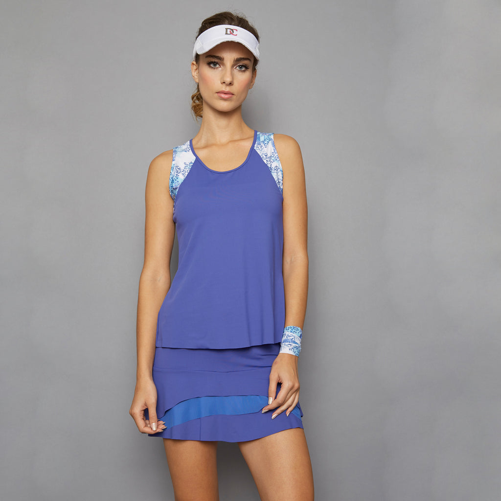 Scotia Tank Top w/print (blue)