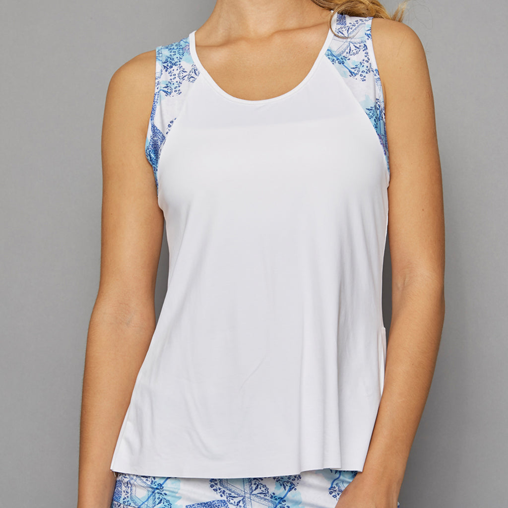 Scotia Tank Top w/print (white)