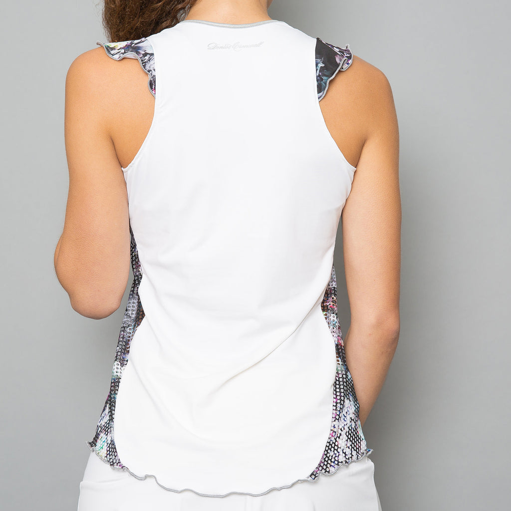 Vivid Dark Tank Top (white)