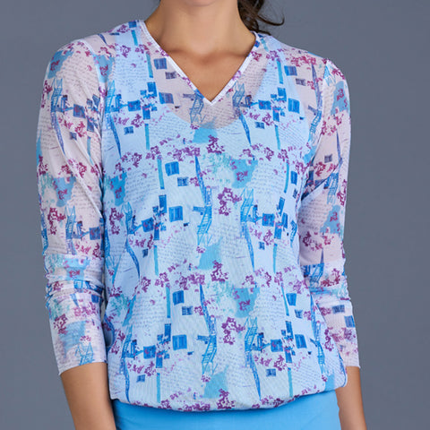 Sisily V-neck Pullover (baby blue)