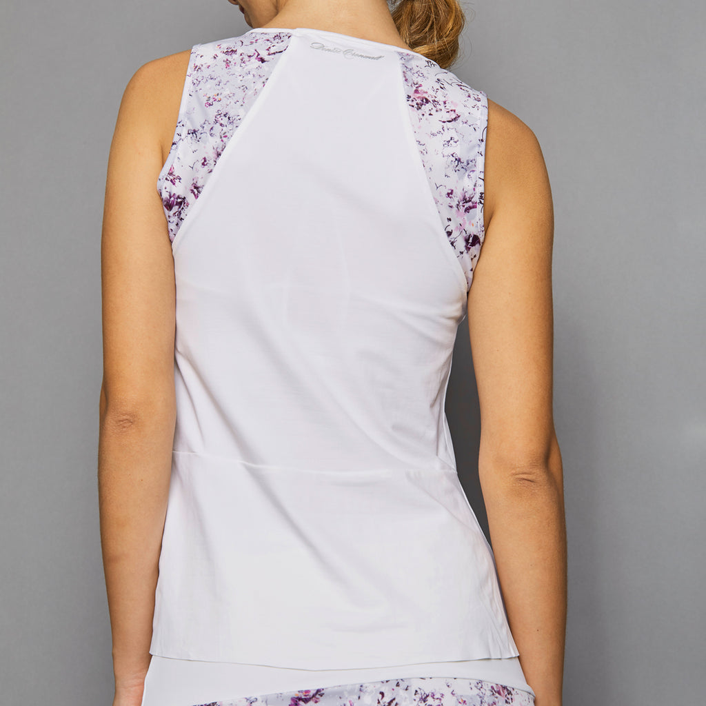 Rhapsody Tank Top w/print (white)