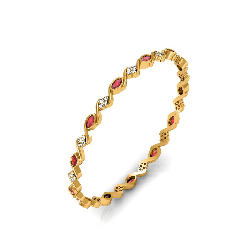 Exotica Ruby Studded Bangle