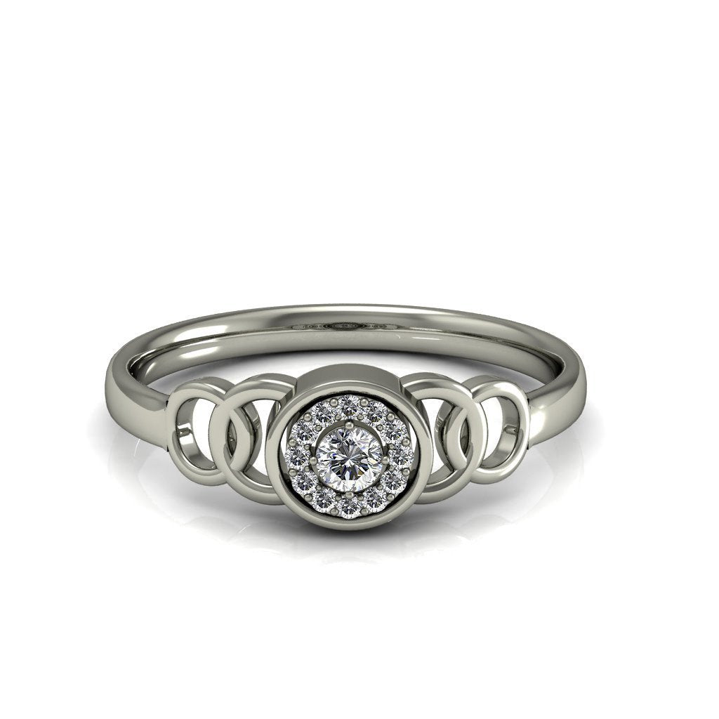 Amazing o Diamond Circles Ring