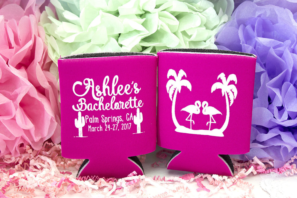 Pink Bachelorette Can Cooler