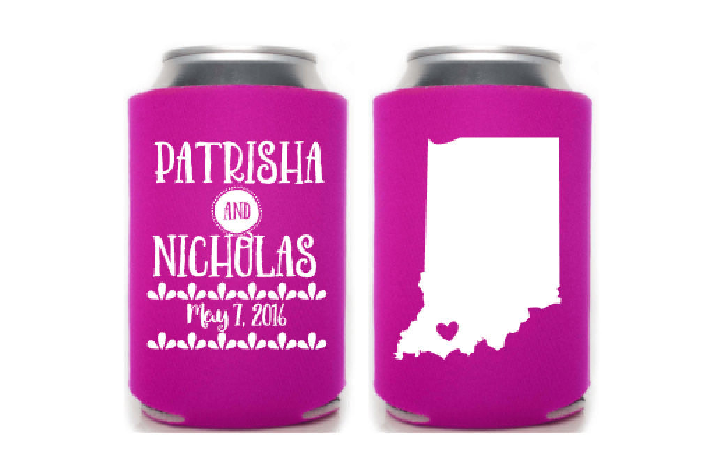 State Wedding Can Cooler