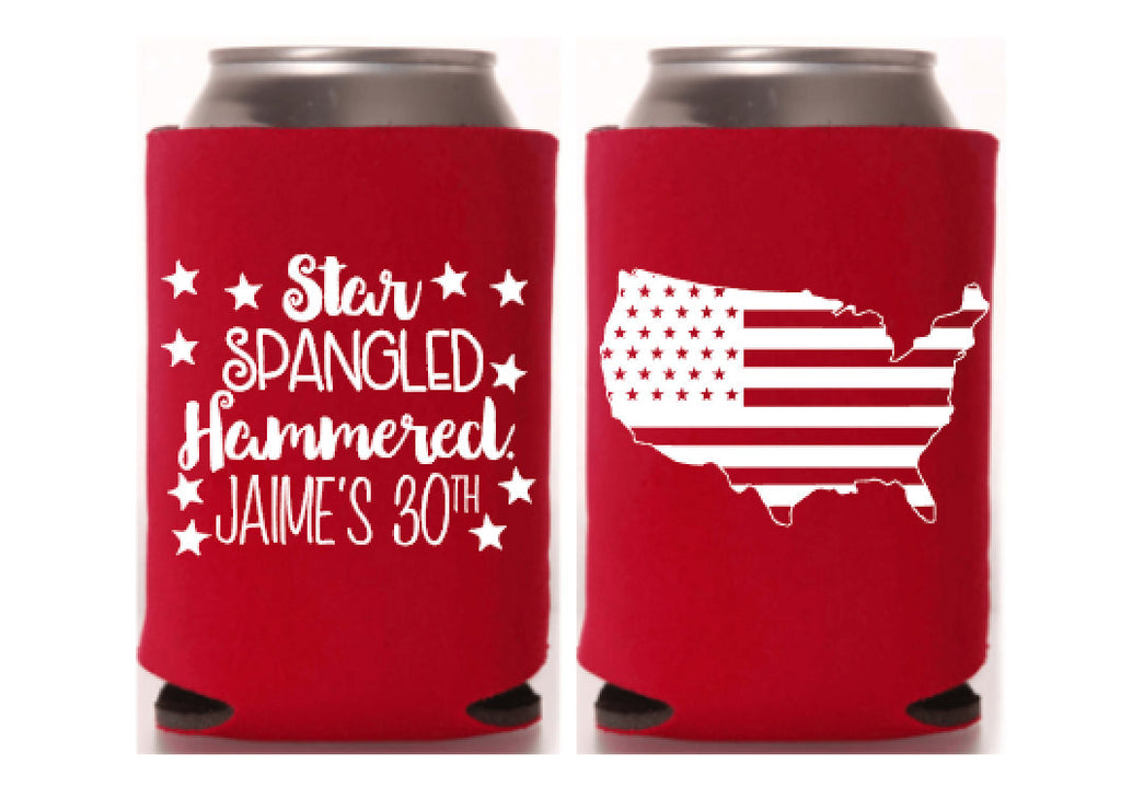 4th of July Party Can Cooler