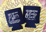 Raise Your Beer Baby Shower Can Cooler