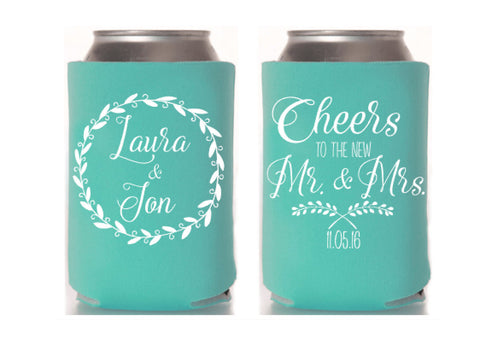 Cheers Wedding Can Cooler