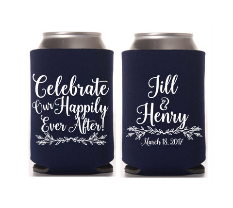 Celebrate Wedding Can Cooler