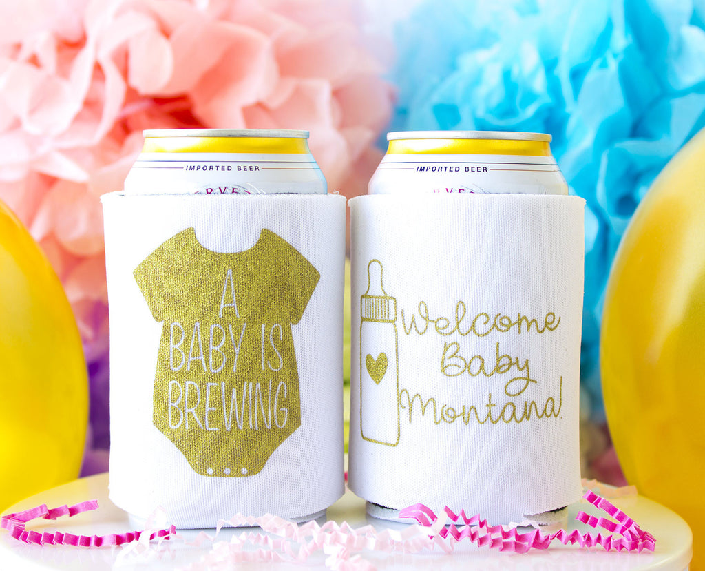 A Baby is Brewing Can Cooler
