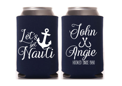 Anchor Wedding Can Cooler