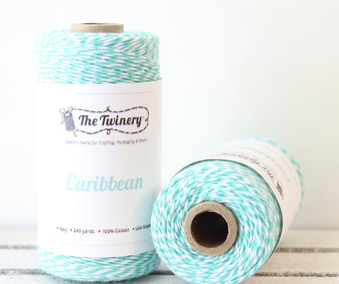 Teal Stripe Twinery Twine