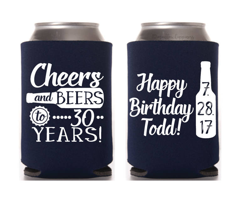 Cheers & Beers to 30 Years Birthday Can Cooler