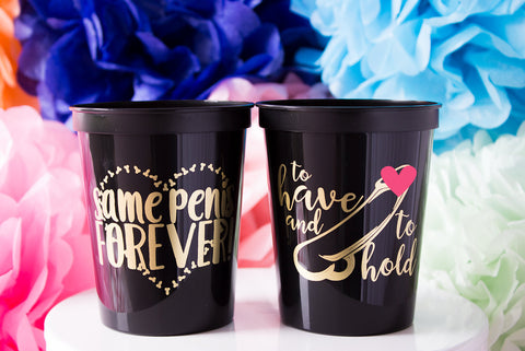 Same Penis Forever Plastic Party Cup