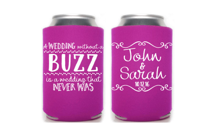 Wedding Buzz Can Cooler