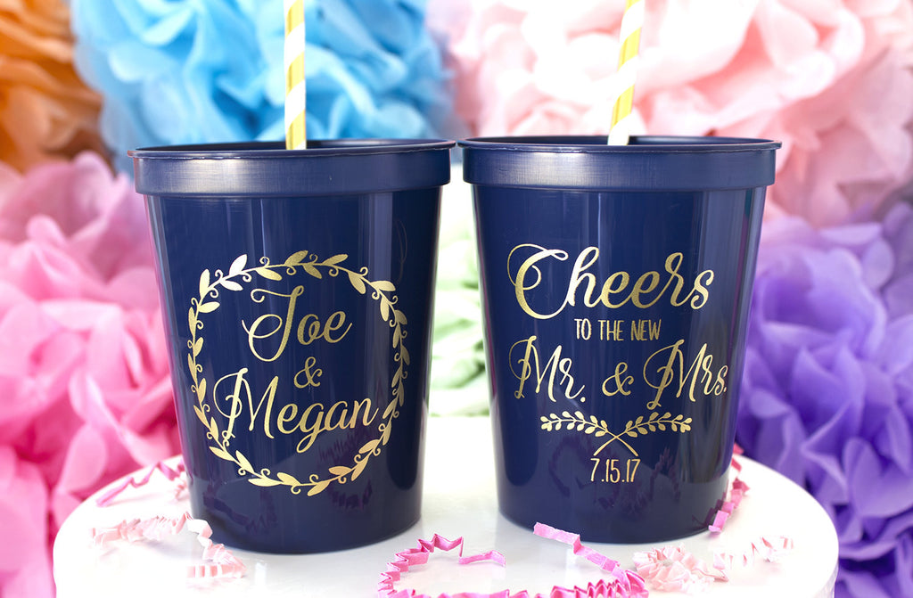 Cheers to Mr & Mrs Wedding Cups,